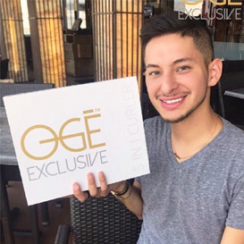 Oge Exclusive influencer premium haar producten Samuel